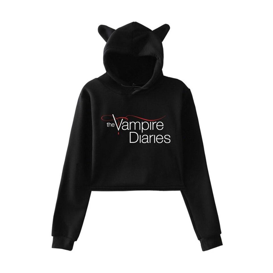 vampire diaries cropped hoodie